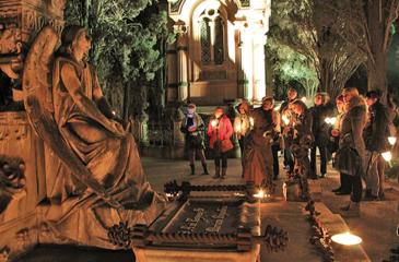 Ruta Nocturna Artística por el Cementerio de Montjüic este jueves 23 de Marzo